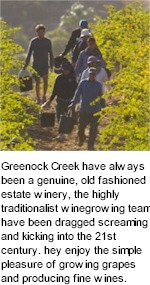 More About Greenock Creek Wines