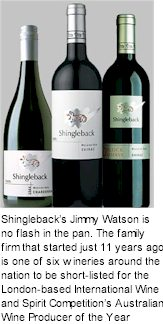About Shingleback Wines