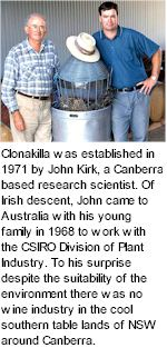 More on the Clonakilla Winery