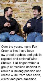 About the Fox Creek Winery
