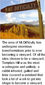 About Mt Difficulty Wines