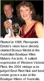 More About Mount Pierrepoint Wines