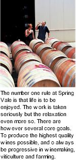More on the Spring Vale Winery